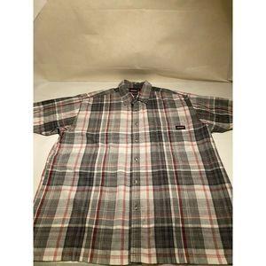 Dickies Sz 2XL Black/Grey Button Shirt